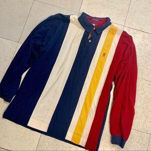 Vintage Tommy Hilfiger color block striped polo xl